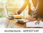 finance accounting businessman... | Shutterstock . vector #609207149
