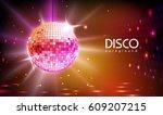 disco ball background | Shutterstock .eps vector #609207215