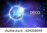 disco ball background | Shutterstock .eps vector #609208049
