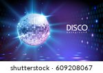 Disco ball background - stock vector