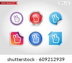 colored icon or button of peace ... | Shutterstock .eps vector #609212939