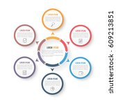 circle infographic template... | Shutterstock .eps vector #609213851