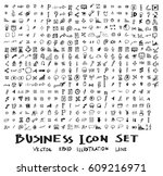 business doodles sketch vector... | Shutterstock .eps vector #609216971