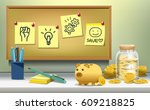 planning to work for money.... | Shutterstock .eps vector #609218825