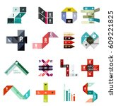 collection of vector colorful... | Shutterstock .eps vector #609221825
