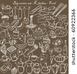 Big Vector Set   Kitchen   Food