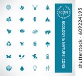 ecology and nature icon set... | Shutterstock .eps vector #609224195