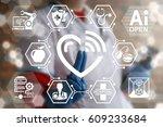 concept integration iot... | Shutterstock . vector #609233684