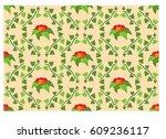 abstract vector seamless... | Shutterstock .eps vector #609236117