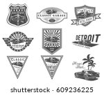 vector set of classic italian... | Shutterstock .eps vector #609236225
