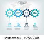 vector infographic template... | Shutterstock .eps vector #609239105