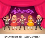 musical children's group... | Shutterstock .eps vector #609239864