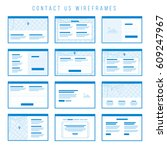 wireframe components to build... | Shutterstock .eps vector #609247967