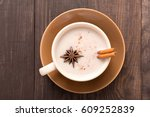 masala chai with spices...   Shutterstock . vector #609252839