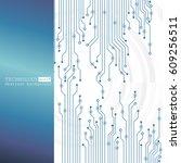 vector circuit board... | Shutterstock .eps vector #609256511