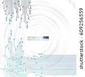 vector circuit board... | Shutterstock .eps vector #609256559