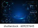 hud gui interface virtual... | Shutterstock .eps vector #609257645