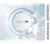 vector circuit board... | Shutterstock .eps vector #609258041