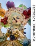 valencia  spain   march 19 ... | Shutterstock . vector #609261389