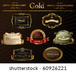 gold vintage frames ornament.... | Shutterstock .eps vector #60926221