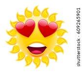Smile In Love Emoticon Sun. Su...