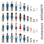 set of growing up evolution on... | Shutterstock . vector #609268079