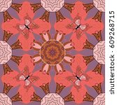vector illustration of flowers. ...   Shutterstock .eps vector #609268715