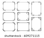 decorative frame set with old... | Shutterstock .eps vector #609271115