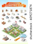 build your own isometric city . ... | Shutterstock .eps vector #609271874