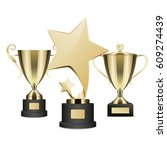 golden rewards vector realistic ... | Shutterstock .eps vector #609274439