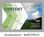 greenery brochure layout banner ... | Shutterstock .eps vector #609274511