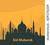 vector illustration of eid... | Shutterstock .eps vector #609276209
