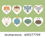 cute hipster pet of vector...   Shutterstock .eps vector #609277709