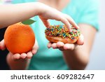 child obesity concept with... | Shutterstock . vector #609282647