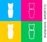 dress sign illustration. four...