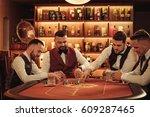 group of upper class men... | Shutterstock . vector #609287465