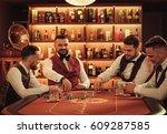 group of upper class men... | Shutterstock . vector #609287585