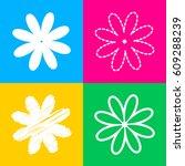 flower sign illustration. four...