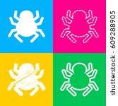 spider sign illustration. four... | Shutterstock .eps vector #609288905