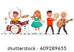 musical children's band on a...   Shutterstock .eps vector #609289655