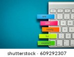 are you ready for exams | Shutterstock . vector #609292307