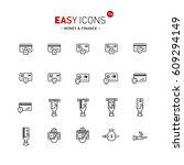 vector thin line flat design... | Shutterstock .eps vector #609294149