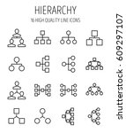 set of hierarchy icons in...   Shutterstock .eps vector #609297107