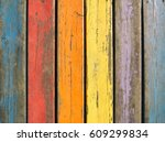 abstract vintage wood panels.... | Shutterstock . vector #609299834