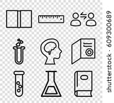 education icons set. set of 9... | Shutterstock .eps vector #609300689