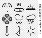 Weather Icons Set. Set Of 9...