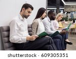 people waiting for job... | Shutterstock . vector #609305351