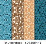 set of decorative line... | Shutterstock .eps vector #609305441