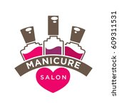 manicure salon or nails design...   Shutterstock .eps vector #609311531