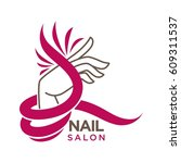nails studio or manicure salon... | Shutterstock .eps vector #609311537